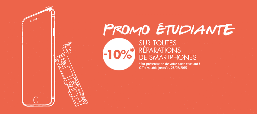 promo etudiante r paration smartphone hightech services. Black Bedroom Furniture Sets. Home Design Ideas